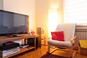 Home Entertainment System Consumes Electricity Turn Off to Conserve Energy